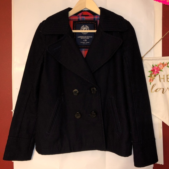 American Eagle Outfitters Jackets & Blazers - American eagle small black pea coat women's